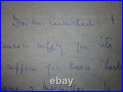 Edmund Wilson (1895-1972) Signed Autograph Hand Written Letter Dated 1959