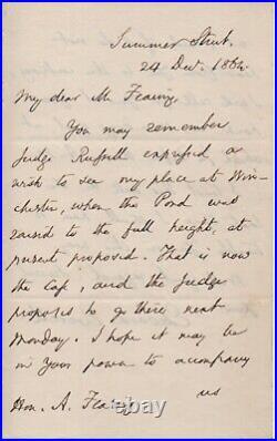 Edward Everett - 1860 VP nominee, Gov, Sec. State, handwritten letter