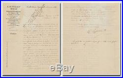 Eiffel, Gustave (1832-1923) Letter signed with fine handwritten addition