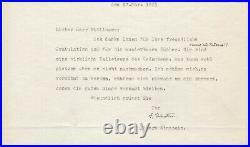 Einstein, Albert Fine content typed letter signed with handwritten addition