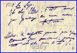 Eleonora Duse (+) ITALIAN ACTRESS autograph, handwritten letter signed