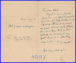 Elizabeth Hamilton Authentic Signed 4x6.5 Handwritten Letter JSA #BB37559