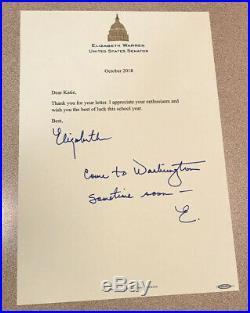 Elizabeth Warren Personal Letter SIGNED Autograph Handwritten Senate 2020 Pres