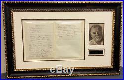Ernest Hemingway Handwritten Letter Signed Papa ALS DS Autographed document PSA
