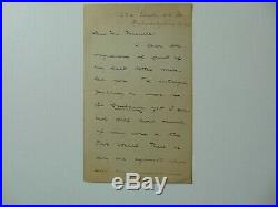 Essayist William George Jordan Hand Written 3 Page Letter JG Autographs COA