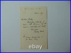Essence of Parliament Shirley Brooks Hand Written Letter JG Autographs COA
