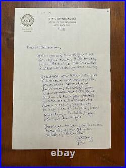 Extraordinary President Bill Clinton Signed Handwritten Letter On Tax Cuts BAS