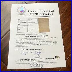 FLORENCE NIGHTINGALE BAS Beckett Signed Handwritten Letter Autograph Nurse