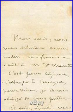 FRENCH NAVAL OFFICER & NOVELIST Pierre Loti autograph, handwritten letter signed