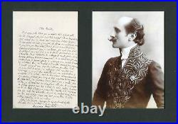FRENCH POET Edmond Rostand autograph, handwritten letter signed