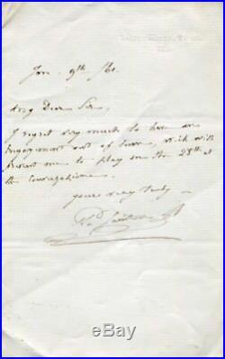 FRENCH VIOLINIST Prosper Sainton autograph, handwritten letter signed