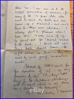 Famous Five Enid Blyton 1958 Handwritten Letter Signature Autograph + 7 Books