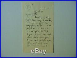 Field & Stream Henry Sumner Watson Hand Written Letter Dated 1927 Mueller COA