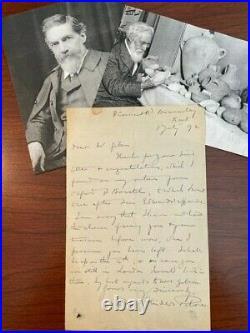 Flinders Petrie Handwritten Letter Signed, Egyptologist, Howard Carter