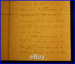 Francis Parkman Handwritten Letter Signed Autographed ALS Historian Oregon Trail
