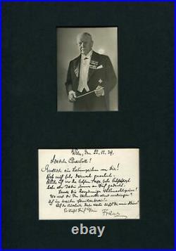 Franz Lehar COMPOSER autograph, handwritten LOVE LETTER signed