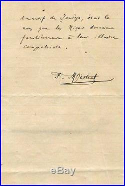 Frederic Mistral NOBEL PRIZE autograph, handwritten letter signed