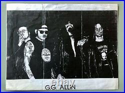 GG Allin handwritten letter withautograph from prison on flyer/handbill VERY RARE