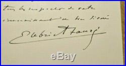 Gabriel Fauré Handwritten Signed Letter
