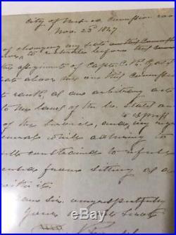 General Daniel Ruggles Signed Hand Written Letter pre Civil War Nov 23 1847