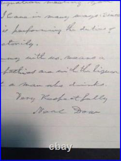 General Neal Dow Handwritten Letter Signed On Liquor By Father Of Prohibition