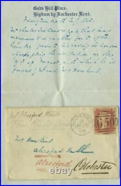 Genuine Charles Dickens Hand Written Letter Gads Hill 1860 With Envelope Bonhams