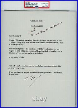 George H. W. Bush 41 President Signed Letter TLS Hand Written Notes 2000 PSA/DNA