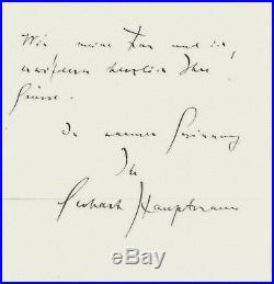 Gerhart Hauptmann Autograph handwritten letter orig. Autogramm selten Rarität