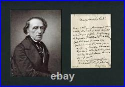 Giacomo Meyerbeer COMPOSER autograph, handwritten letter signed