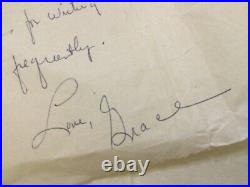 Grace Halsell, author, handwritten letter from 1955 in Seoul, Korea RARE