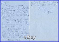 Grace Kelly Handwritten Four Page Letter Uacc & Aftal Rd Autograph