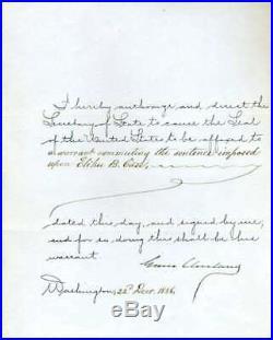 Grover Cleveland JSA Coa Hand Signed 1886 Handwritten Letter Autograph