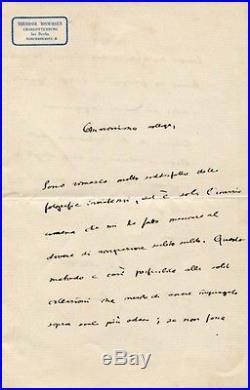 HISTORIAN Theodor Mommsen NOBEL PRIZE 1902 autograph, handwritten letter signed