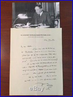 H. G. Wells Handwritten Letter Signed Discussing The Time Machine