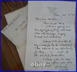 Hand Written, 1928 Signed Letter By Lyricist, Irving Caesar Plus
