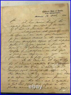 Hand-written Judah Benjamin Letter to Henry R. Jackson 1861 $20K APR with CoA