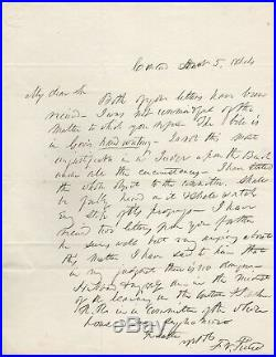 Handwritten Letter Signed by Franklin Pierce in 1844 with COA