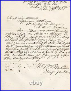 Handwritten Letter Signed by Henry W. Benham in 1861 withCOA