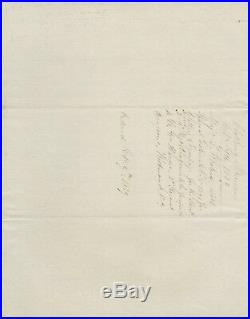 Handwritten Letter Signed by Joel Roberts Poinsett in 1839 with COA