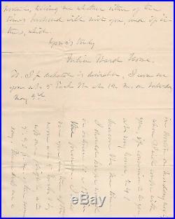 Handwritten Letter Signed by Julia Ward Howe in 1884 with COA