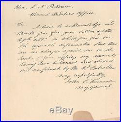 Handwritten Letter Signed by Major General John C. Fremont in 1890 with COA