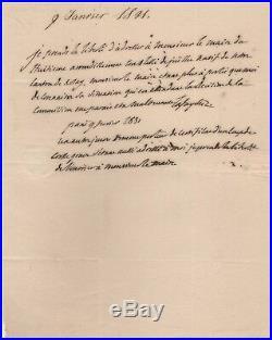 Handwritten Letter Signed by Marquis de Lafayette in 1831 with COA