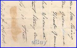 Handwritten Letter Signed by Martin Van Buren with COA