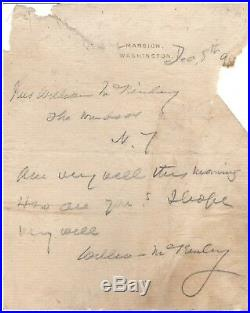 Handwritten Letter Signed by William McKinley in 1898 with COA
