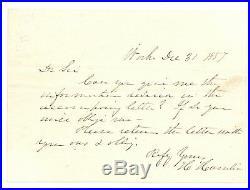Hannibal Hamlin (Lincoln's VP / Senator) Handwritten Signed 1857 Letter