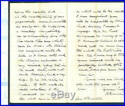Hannibal Hamlin (Lincoln's VP/Senator) Handwritten Signed 1877 Letter