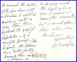 Henry Brougham, 1st Baron Brougham Handwritten Signed Letter with COA