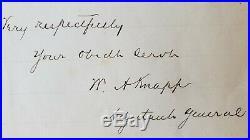 Historic Autographs Civil War Divided General WIlliam Knapp Handwritten Letter