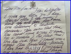 Historical Handwritten Letter Mamie Eisenhower 1979 To A Friend