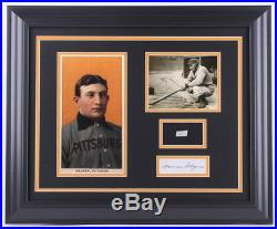 Honus Wagner 19x23 Framed Cut Display with (1) Hand-Written Word from Letter PSA